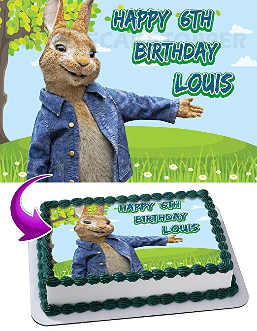 Peter Rabbit Edible Image Cake Topper Personalized ...