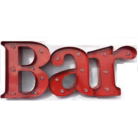 Black Series Marquee Bar Sign 9