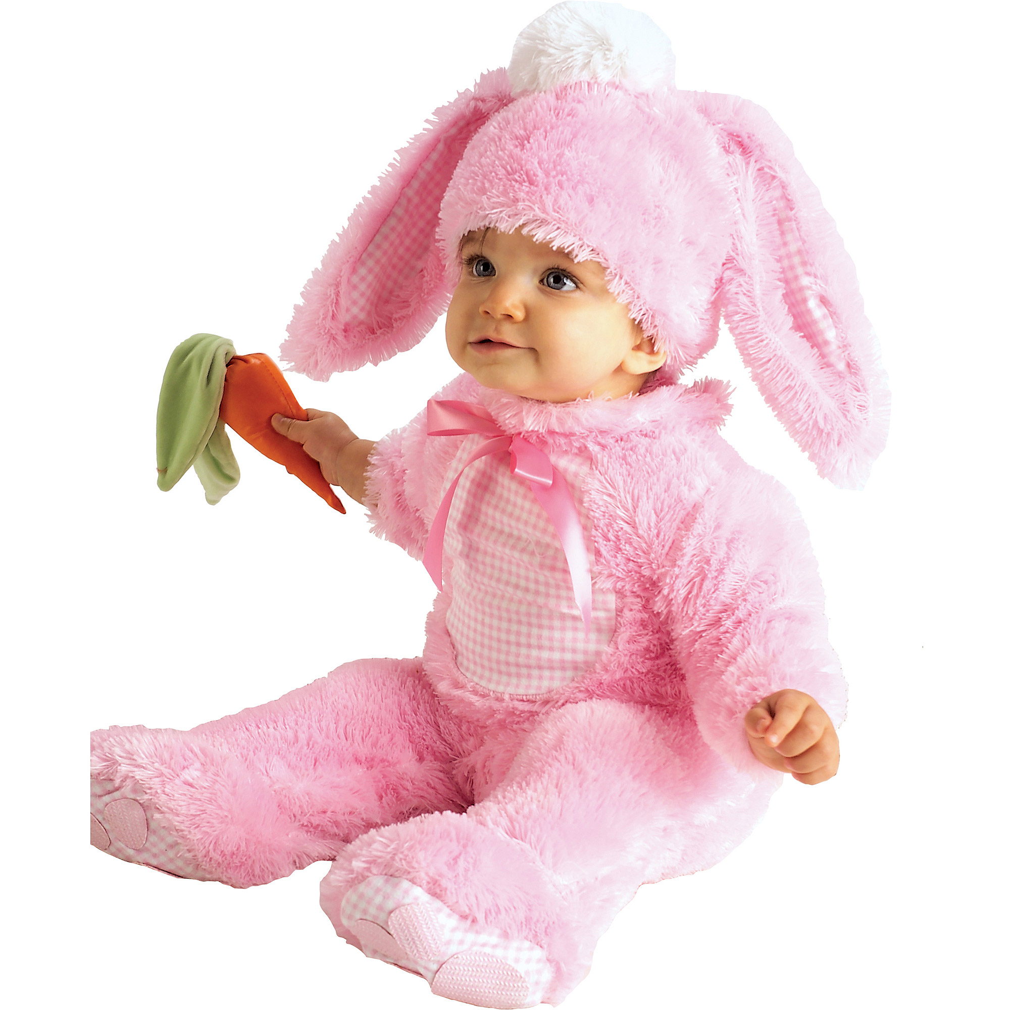 pink bunny infant jumpsuit halloween costume walmartcom - Walmart Halloween Costumes For Baby