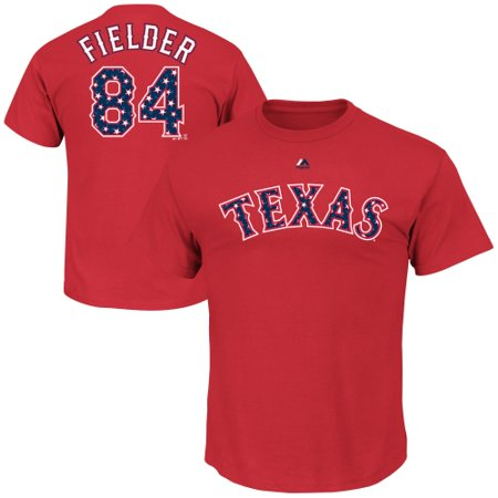 Youth Player Stripe (Prince Fielder Texas Rangers Majestic Youth Stars & Stripes Player Name & Number T-Shirt -)
