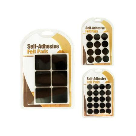 Bulk Buys HW745-96 Self-Adhesive Felt Floor Protector Pads, 96 - Felt Balls Bulk