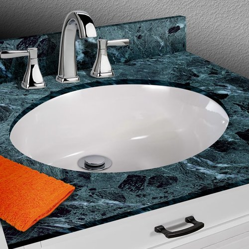 Miseno Vitreous China Oval Undermount Bathroom Sink with Overflow