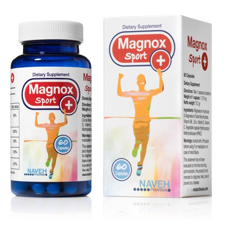 High Absorption Magnesium and Vitamins B6,D,E Complex. Stop Leg Cramps, Sore Muscles, Restless Leg Syndrome Relieve - 60