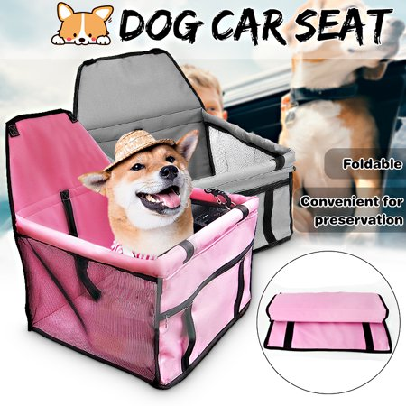 Portable Folding Pets Dogs Cats Car Seat Safe Carrier Beds