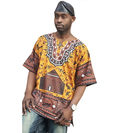 Africa Shirt (Gye Nyame Traditional African Print Dashiki Shirt)