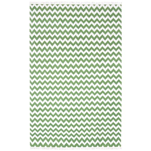 St. Croix Hacienda Green/White Chevron Area Rug