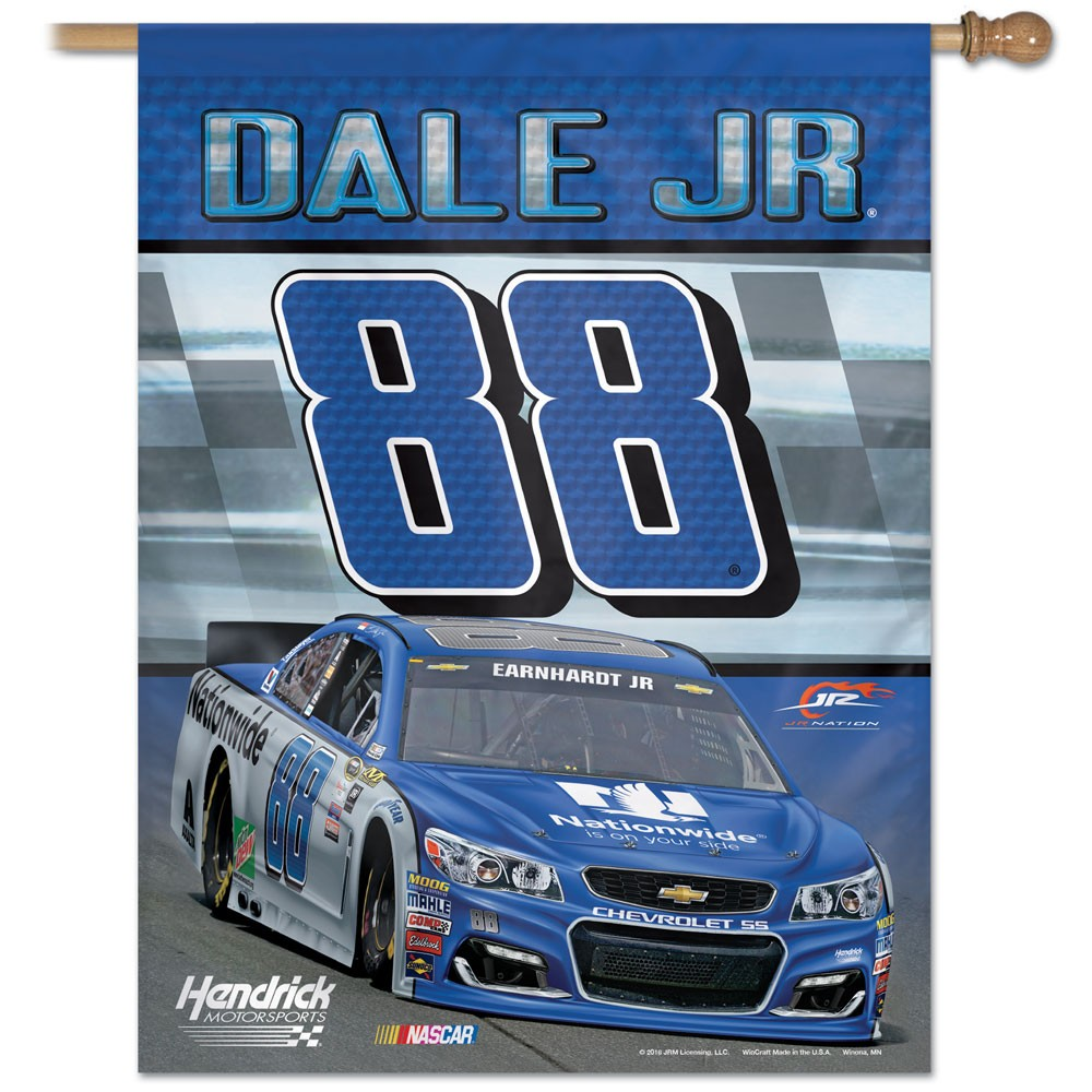 Dale Earnhardt Jr. Official Nascar 27 inch x 37 inch Veritcal Banner Flag by Wincraft by Wincraft