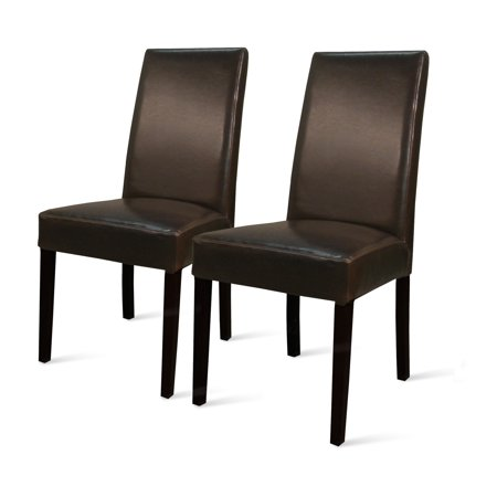 Hartford Parson Dining Chair With Wenge Brown Legs (Set of 2), Multiple Colors