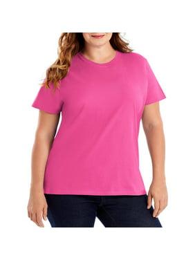 Women's Plus Size Lightweight Short Sleeve Crew T-Shirt