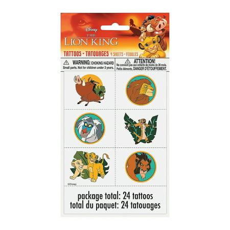 Lion Party Supplies (Lion King Tattoos for Birthday - Party Supplies - Licensed Tableware - Misc Licensed Tableware - Birthday - 24)