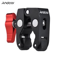 "Andoer Crab Pliers Clip Super Clamp with 1/4"" & 3/8"" Screw Hole for DSLR Rig LCD Monitor Studio Light Camera Magic Arm Photo Studio Accessory"