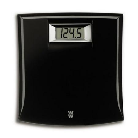 Weight Watchers Black Digital Bath Scale Walmart Com