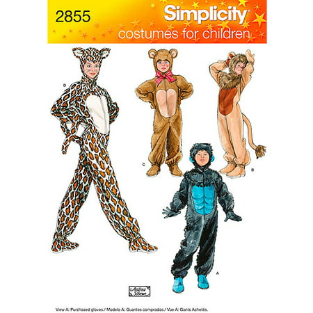 Simplicity Child's Size XS-L Costume Pattern, 1 Each