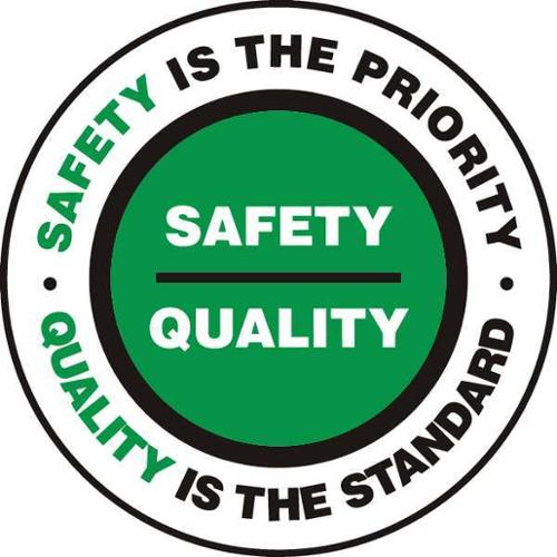 ACCUFORM SIGNS MFS742 Floor Sign, Safety Is the, 17 In. Dia.