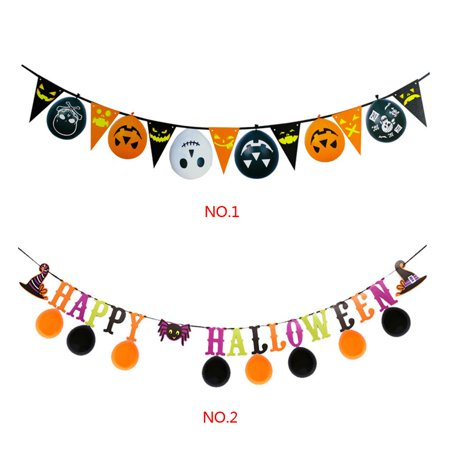 Boyijia String Bunting Flag Colorful Banner Home Pub Bar Garland 3 Meters Halloween Hanging Decoration - image 8 of 9