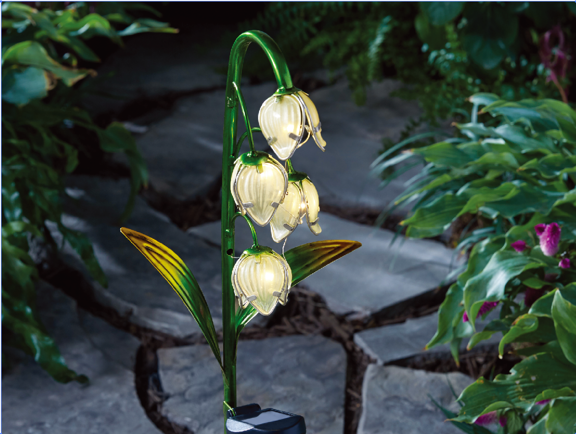 Better homes and garden lily of valley solar stake light - Better homes and gardens solar lights ...