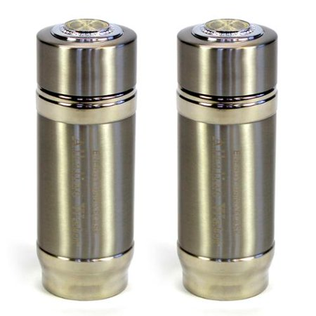 2 Silver Alkaline Energy Flask Ionizer Water Bottles With -