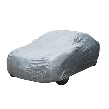Motor Trend All Weather Protection, Universal Fit Car Cover, UV and Water Proof, Secure Lock & Bag Included