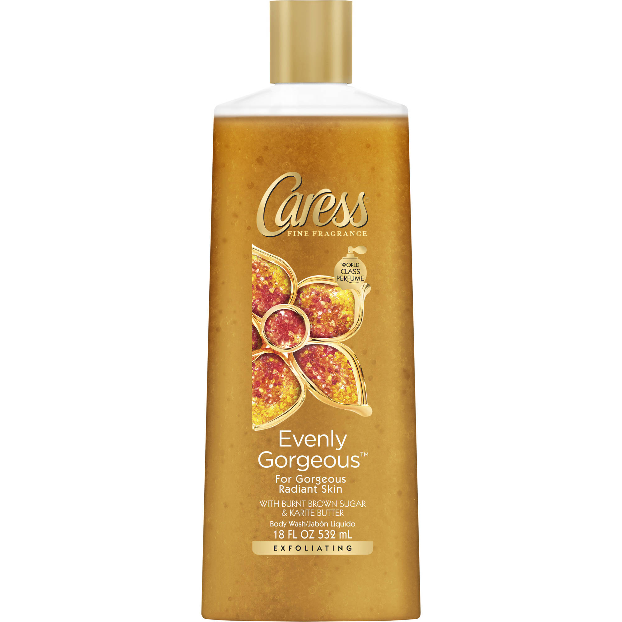 Caress Evenly Gorgeous Exfoliating Body Wash, 18 oz