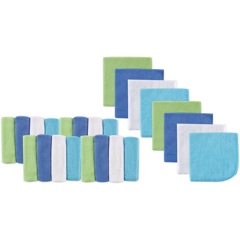 Luvable Friends Washcloths, 24pk, Choose Your Color