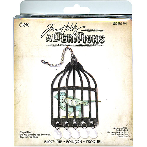 Sizzix Bigz BIGkick/Big Shot Die by Tim Holtz Alterations, Caged Bird