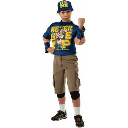 Muscle Chest John Cena Child Costume - Medium - John Darling Costume