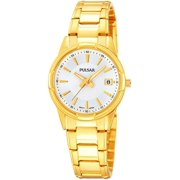 Pulsar Womens Analog Stainless Watch - Gold Bracelet - White Dial - PH7310