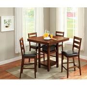 better homes and gardens dalton park 5 piece counter height dining set mocha - Dining Room Set Walmart