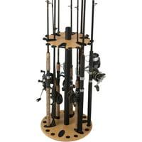 Rush Creek Creations 24 Fishing Rod Spinning Round Storage Rack