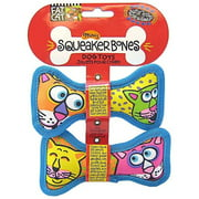 Fat Cat Mini Squeaker Bones, 2 Pack