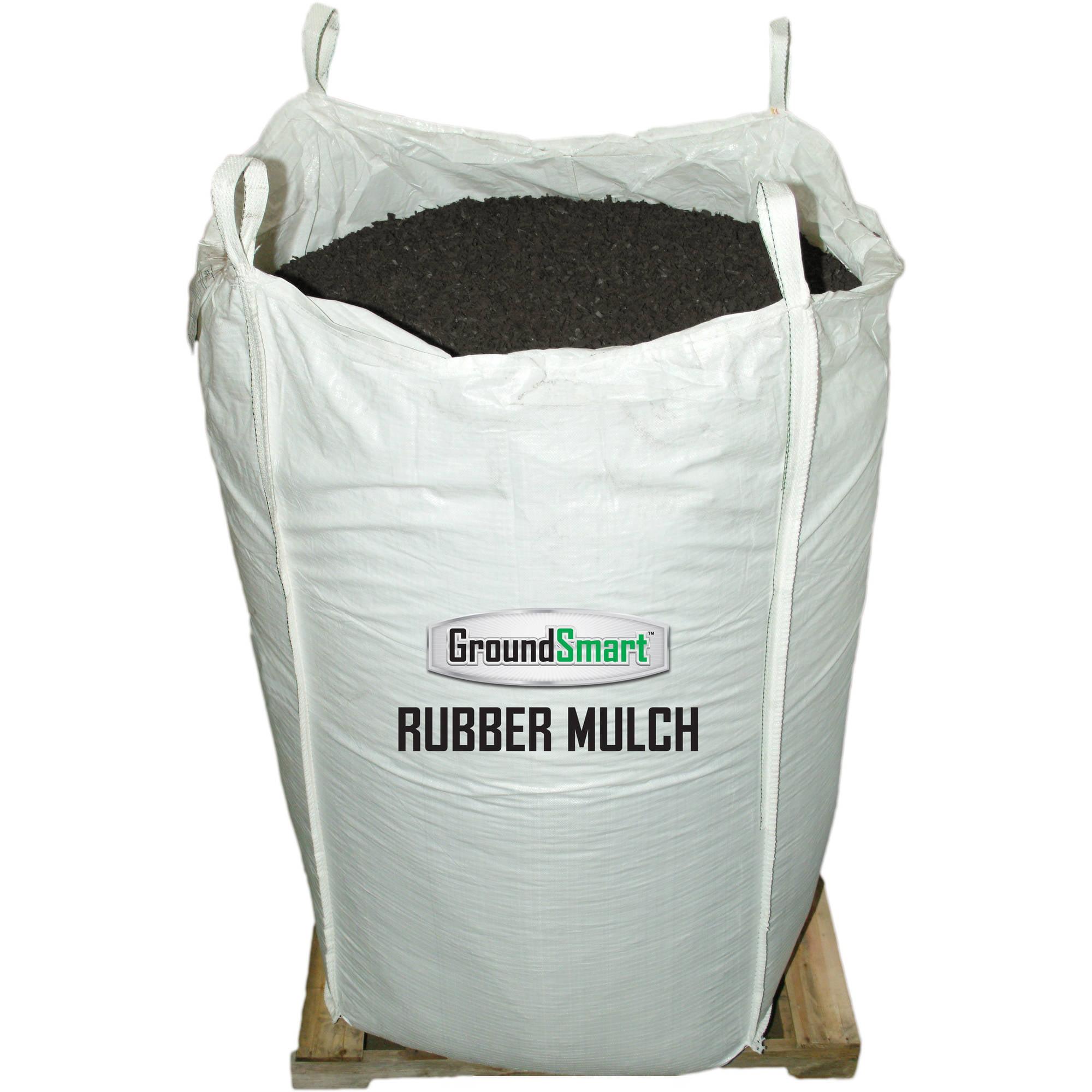 GroundSmart™ Espresso Black Rubber Mulch 38.5 cu ft super sack