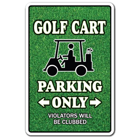 GOLF CART Parking Decal golfer lover golfing clubs widow | Indoor/Outdoor | 5