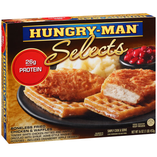 Hungry-Man Selects Boneless Fried Chicken & Waffles, 16 oz