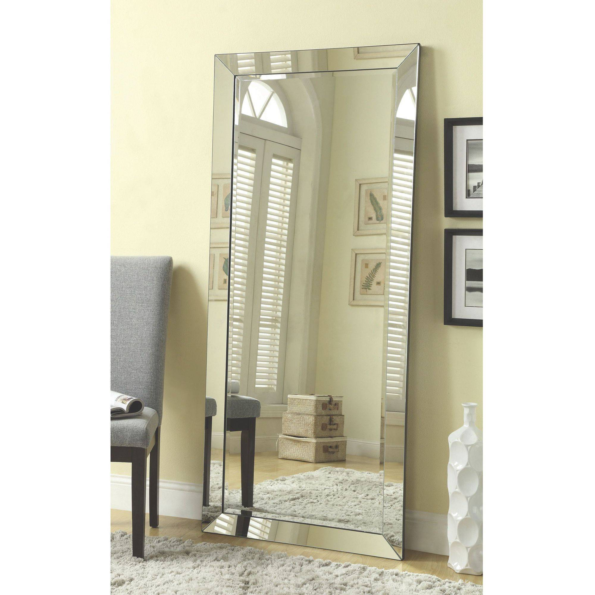Coaster Company Silver Beveled Mirror by Coaster Company