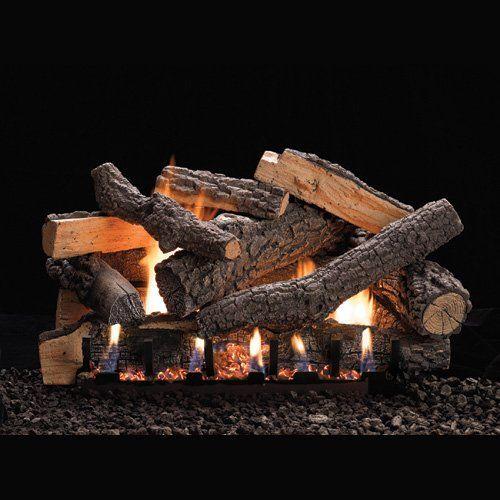 "Vent-Free 16"" Variable Flame Height Slope Glaze Burner - NG"
