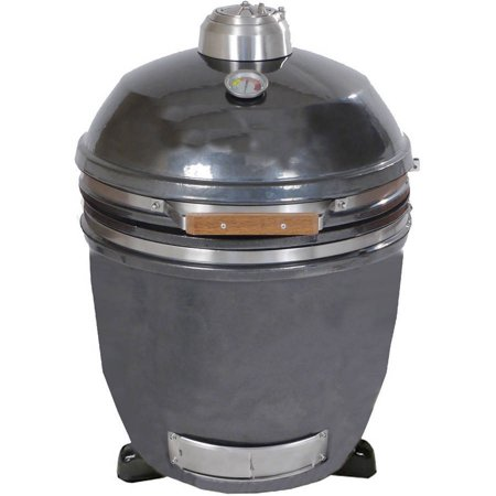 Hanover 19  Ceramic Kamado Grill With Build Kit  Desert