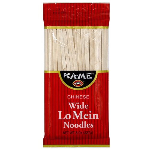 Ka-Me Chinese Wide Lo Mein Noodles, 8 oz (Pack of 12)