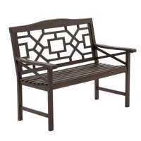 Deals on Belham Living Gaulding Cay 4 ft. Outdoor Mahogany Bench