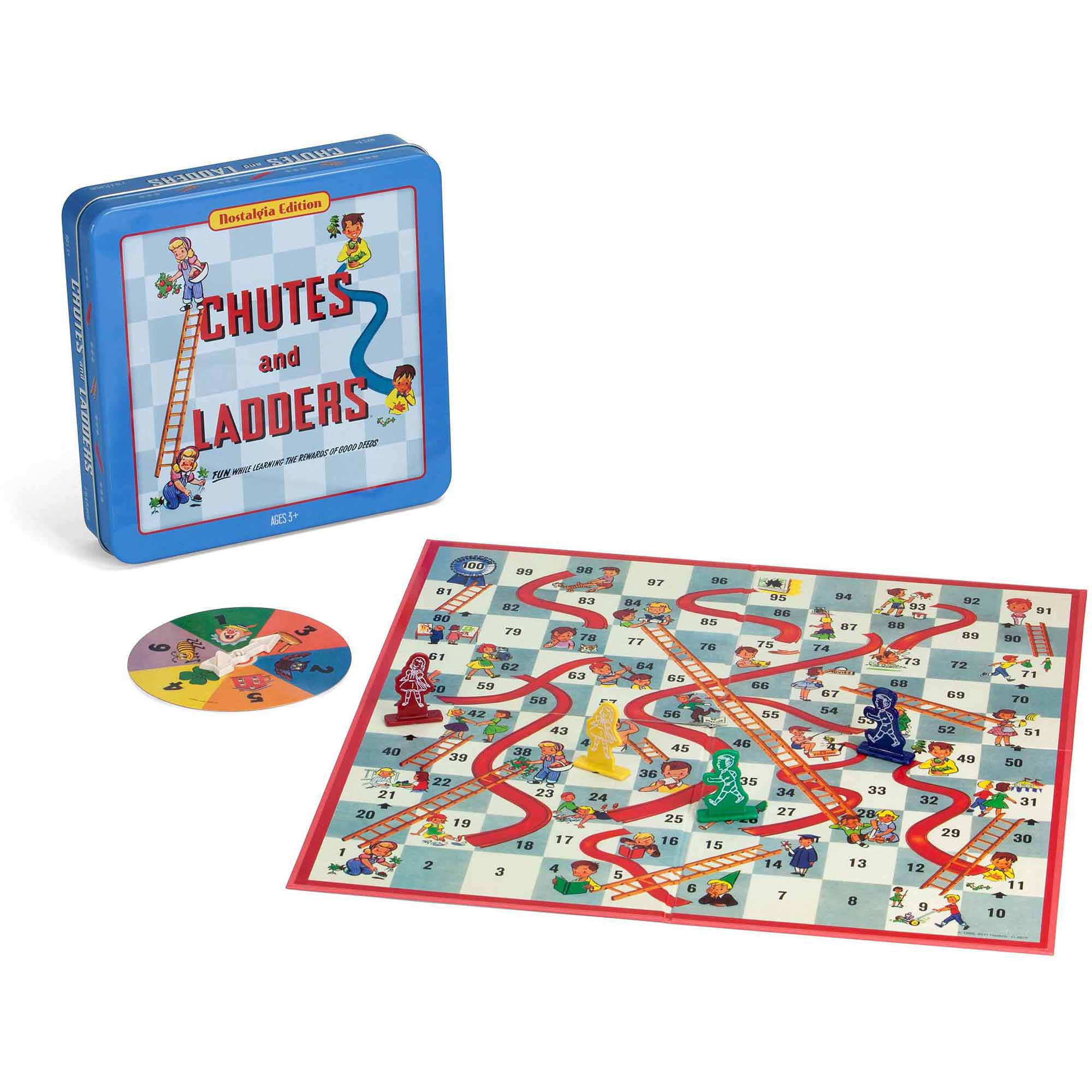 Chutes & Ladders Board Game Nostalgia Edition Game Tin