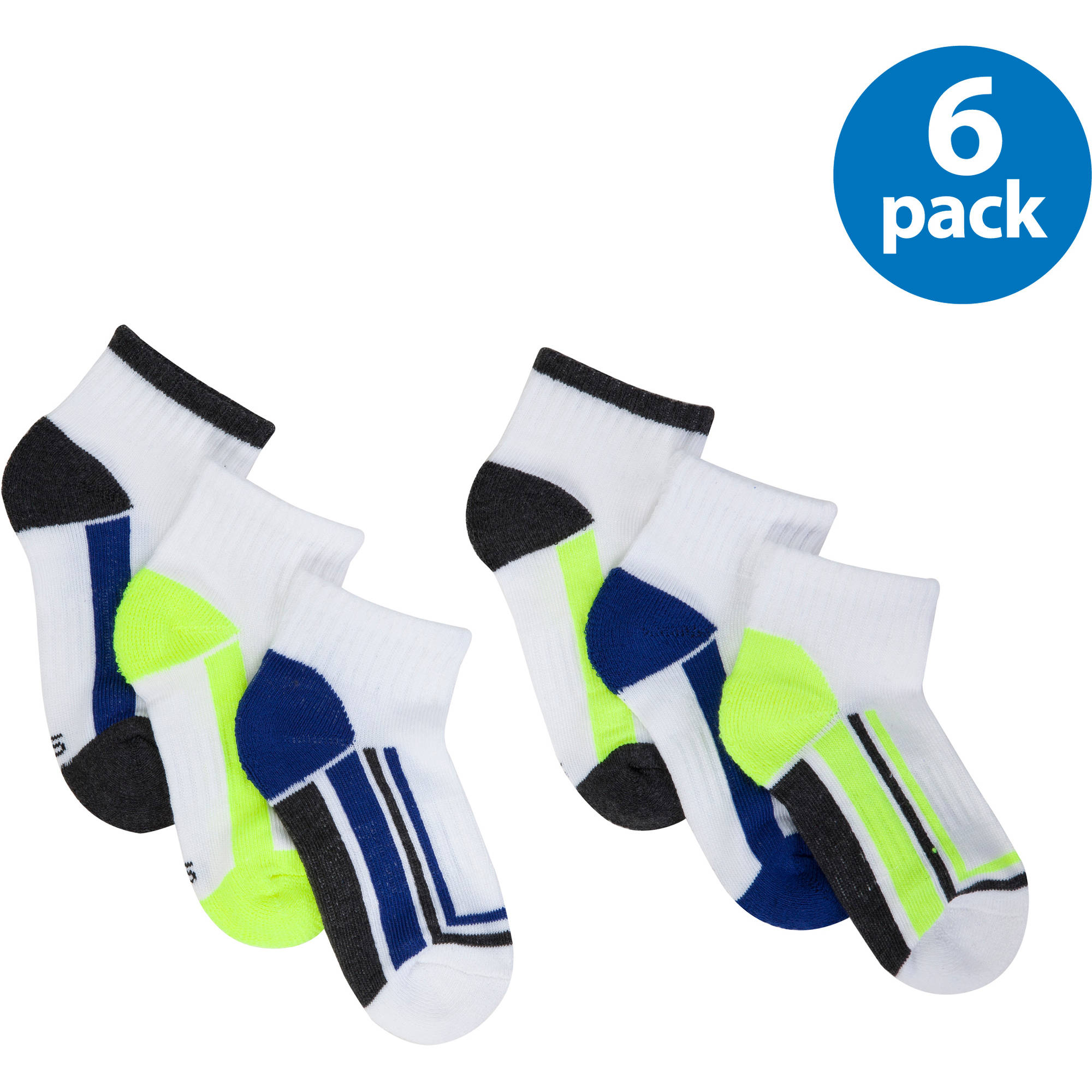 Starter Boys Ankle Socks, 6-pack