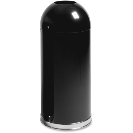 Round Rubbermaid Waste Receptacle (Rubbermaid Commercial, RCPR1536EOTGLBK, 15-gal Round Top Waste Receptacle, 1, Black)