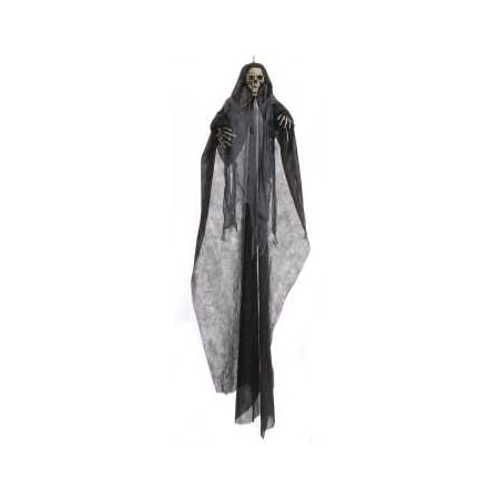 Illusion Haunted House Prop (7' ft Hanging Grim Reaper Skeleton Halloween Haunted House Decoration Prop )