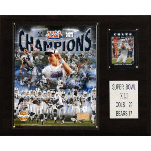 C & I Collectibles NFL Indianapolis Colts Limited Edition Championship Photo Champions Plaque