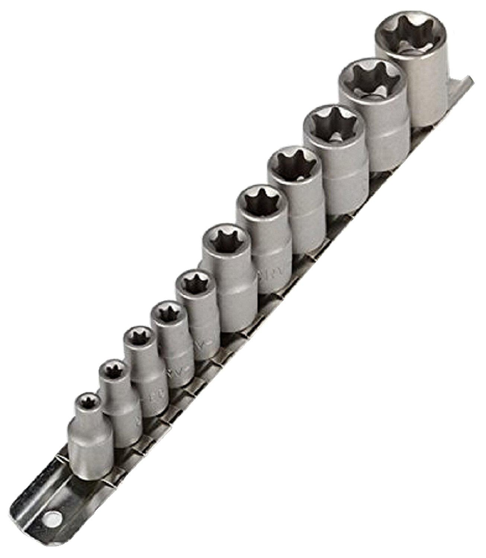 11pc e torx socket bits set w holder female star wrench. Black Bedroom Furniture Sets. Home Design Ideas