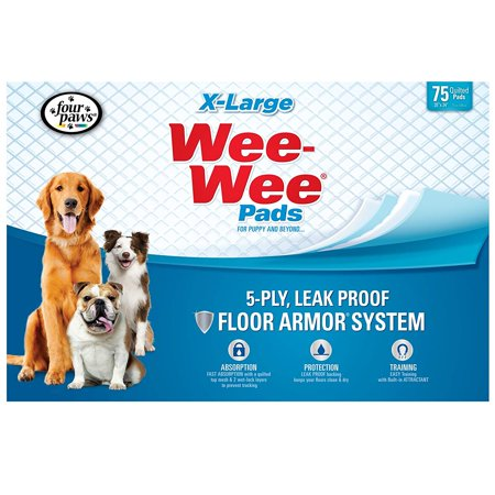 Four Paws XL Wee-Wee Pads, 28 x 34 in, 75 Count (X-large Wee Wee Pads)
