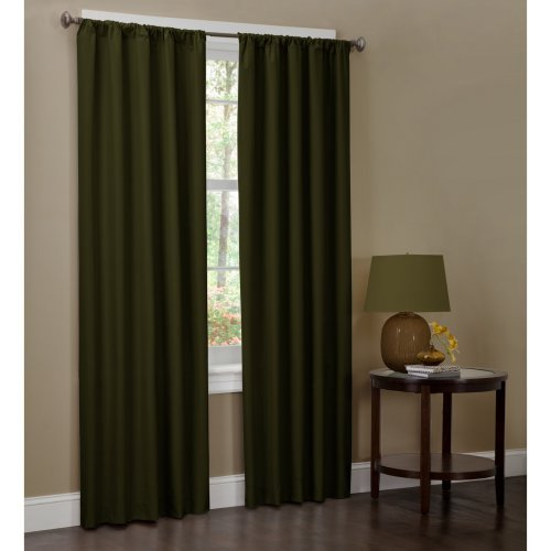 Maytex Microfiber Curtain Panel, Set of 2, 40x84