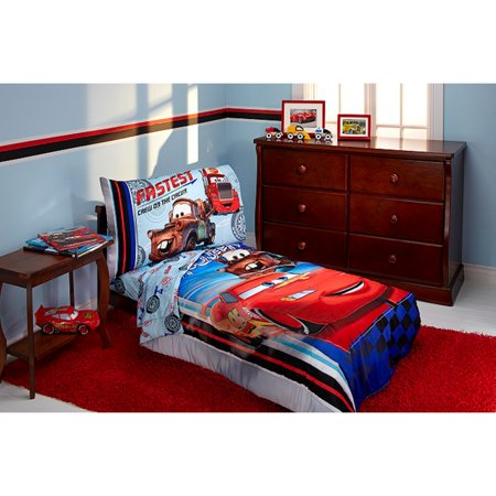 Disney Cars Fastest Team 4 Piece Toddler Bedding Set ()