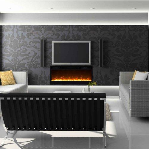 Orren Ellis Jemaine Wall Mounted Bio-Ethanol Fireplace