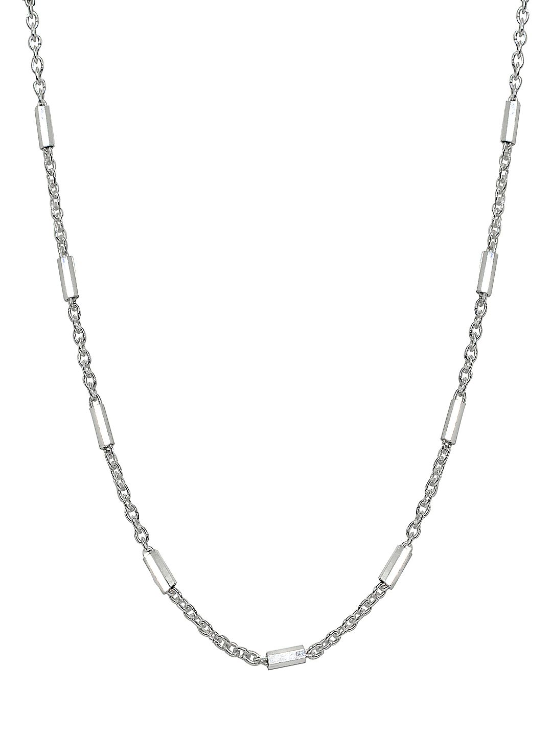 Bar Sterling Silver Station Necklace