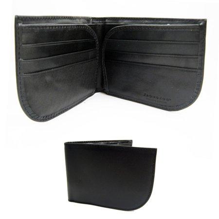 Travelon RFID Blocking Leather Front Pocket Wallet Id Card Mens Black Billfold - Front Pocket Billfold